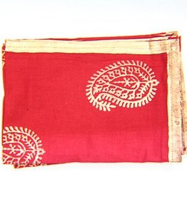 Scarlet Gold Bloom Napkin