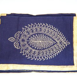 Indigo Gold Bloom Napkin