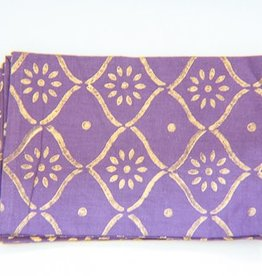Plum Gold Bloom Napkin