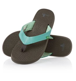 Sanuk Ladie's Yoga Mat Sandals - Aqua