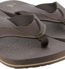 Sanuk Men's Beer Cozy Sandals - Brown