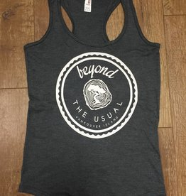 Beyond The Usual Icon Triblend Racerback tank Ladies -Charcoal