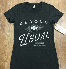 Beyond The Usual Eye Logo Triblend  Tee Ladies - Grey