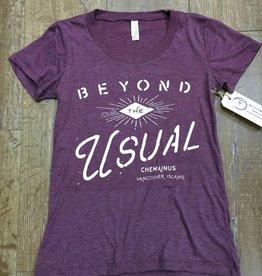 Beyond The Usual Eye Logo Triblend  Tee Ladies - Maroon