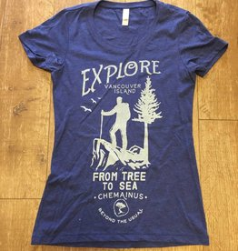 Beyond The Usual Explore Triblend  Tee Ladies - Navy