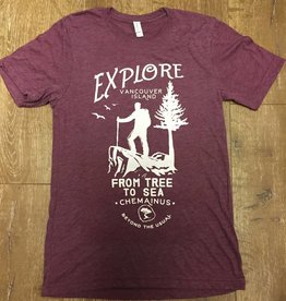 Beyond The Usual Explore Triblend Tee Men's - Maroon