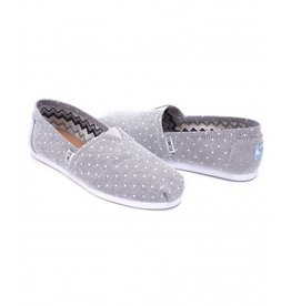 Toms Toms Women's Grey Chambray Dot