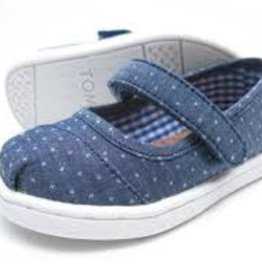 Toms Toms Toddler Mary Jane Blue Polka Dot