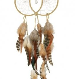 Soul Connection Double Dream Catcher - Tan