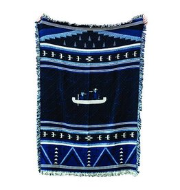 Forest & Waves Forest & Wave Woven Blanket Blue - Canoe