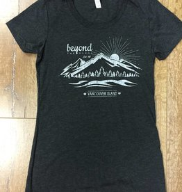 Beyond The Usual Mountain Tee Ladie's - Charcoal