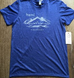 Beyond The Usual Mountain tee Men's - Heather Blue