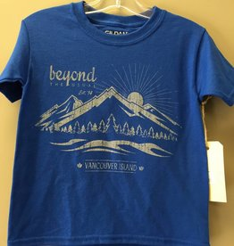 Beyond The Usual BTU Kids Tees Mountain logo- Royal