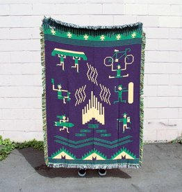 Forest & Waves Forest & Wave Woven Blanket Bonfire