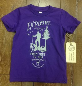 Beyond The Usual BTU Youth Tees - Explore - Purple