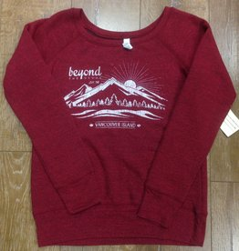 Beyond The Usual BTU Ladies Crew sweater Mountain - Red