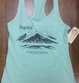 Beyond The Usual BTU Ladies Racerback Mountain Tank - Mint