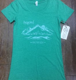 Beyond The Usual BTU Ladies Triblend Mountain Tee - Mint
