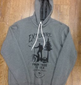 Beyond The Usual BTU Unisex Hoodie Explore- Deep Heather