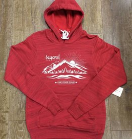 Beyond The Usual BTU Unisex Hoodie Mountain - Red Marble