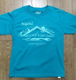 Beyond The Usual BTU Kids Tees Mountain logo- Jade