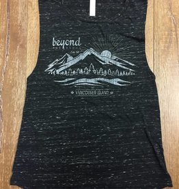 Beyond The Usual BTU Ladies Muscle Mountain Tank -Blk