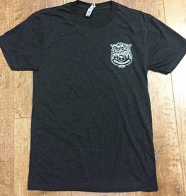 Beyond The Usual BTU Badge Logo  Men's Tee- Charcoal