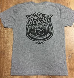 Beyond The Usual BTU Badge Logo  Men's Tee- Grey