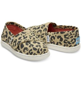 Toms Toddler Cheetah Metalic Linen