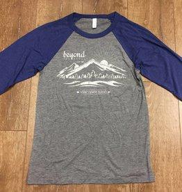 Beyond The Usual BTU Men's Mountain 3/4 Sleeve- Grey/Blue