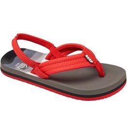 Reef Footwear Ahi Kids Red/Grey/Grey