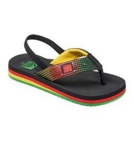 Reef Footwear Ahi Kids Light up Prints Rasta