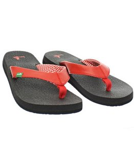 Sanuk Ladie's Yoga Mat Sandals - Red