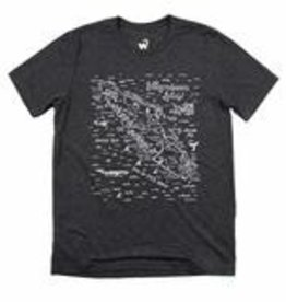 Westcoastees Men's VI Map Tee - Charcoal