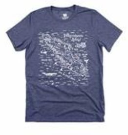 Westcoastees Men's VI Map Tee - Navy