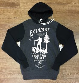 Beyond The Usual BTU Unisex Hoodie Explore - Grey/Black