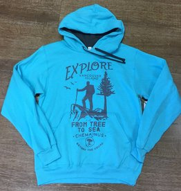 Beyond The Usual BTU Unisex Hoodie Explore-Teal Blue