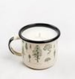 United By Blue EVERGREEN ENAMEL STEEL MUG CANDLE CREAM 12oz MUG/9oz CANDLE