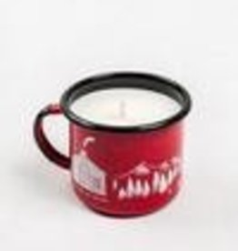 United By Blue MOUNTAIN CABIN ENAMEL STEEL MUG CANDLE RED 12oz MUG/9oz CANDLE