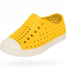 Native Shoes Jefferson Junior Crayon Yellow/Shell White