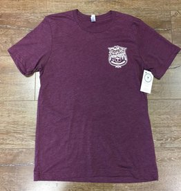 Beyond The Usual BTU Badge Logo  Men's Tee- Maroon