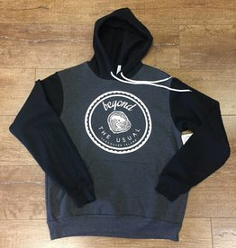 Beyond The Usual BTU Unisex Hoodie Icon - Grey/Black