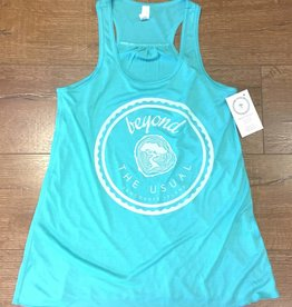 Beyond The Usual BTU Ladies Flowy Icon Tank - Teal