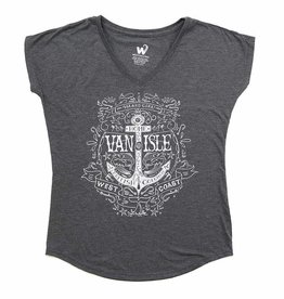 Westcoastees Ladies's Island Girl Vneck Tee