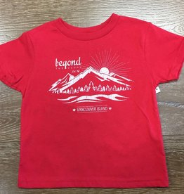 Beyond The Usual BTU Toddler Tees - Mountain - Red