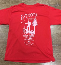 Beyond The Usual BTU Toddler Tees - Explore - Red
