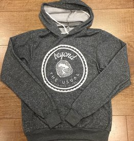 Beyond The Usual BTU Unisex Hoodie Icon - Speckled Grey