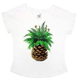 Westcoastees Ladie's PNW Pineapple Dolman Tee