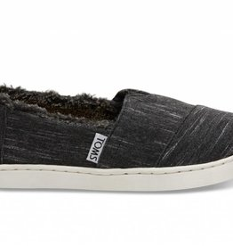 Toms Youth Black Heather Jersey