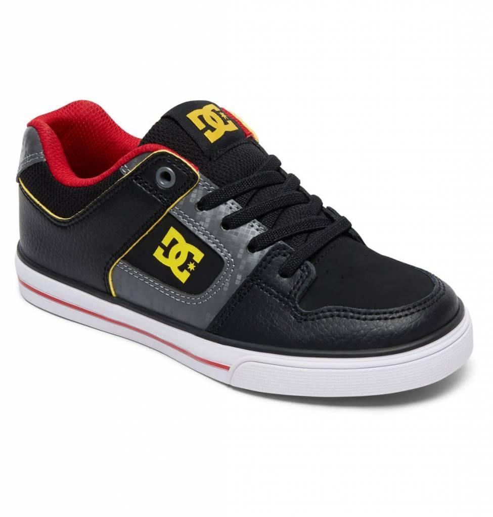 DC Shoe Co. DC Kids Pure Elastic - Grey/Black/Red (XSKR)